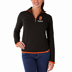 MLB Women's Showdown 1/4 Zip Sweater Bleacher Blue