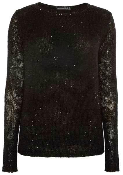 Primark online: jersey en negro con detalles en pedrería