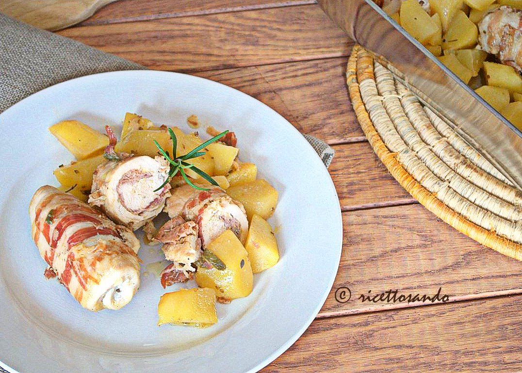 Involtini di pollo e patate