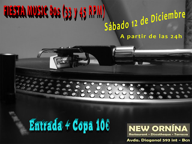 Flyer Fiesta Music 80s