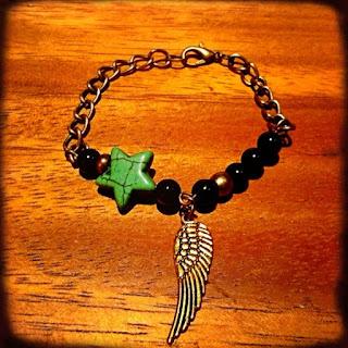 happy uky pulseras estrella verde y ala