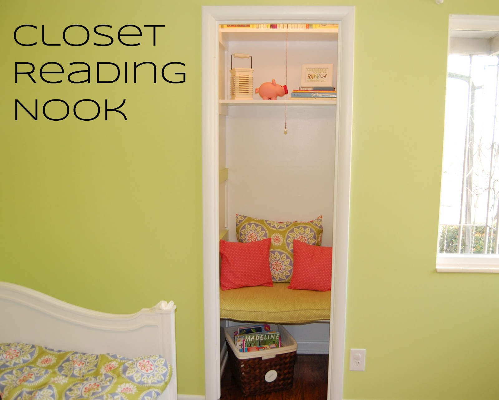 createinspiremotivate: Closet Reading Nook