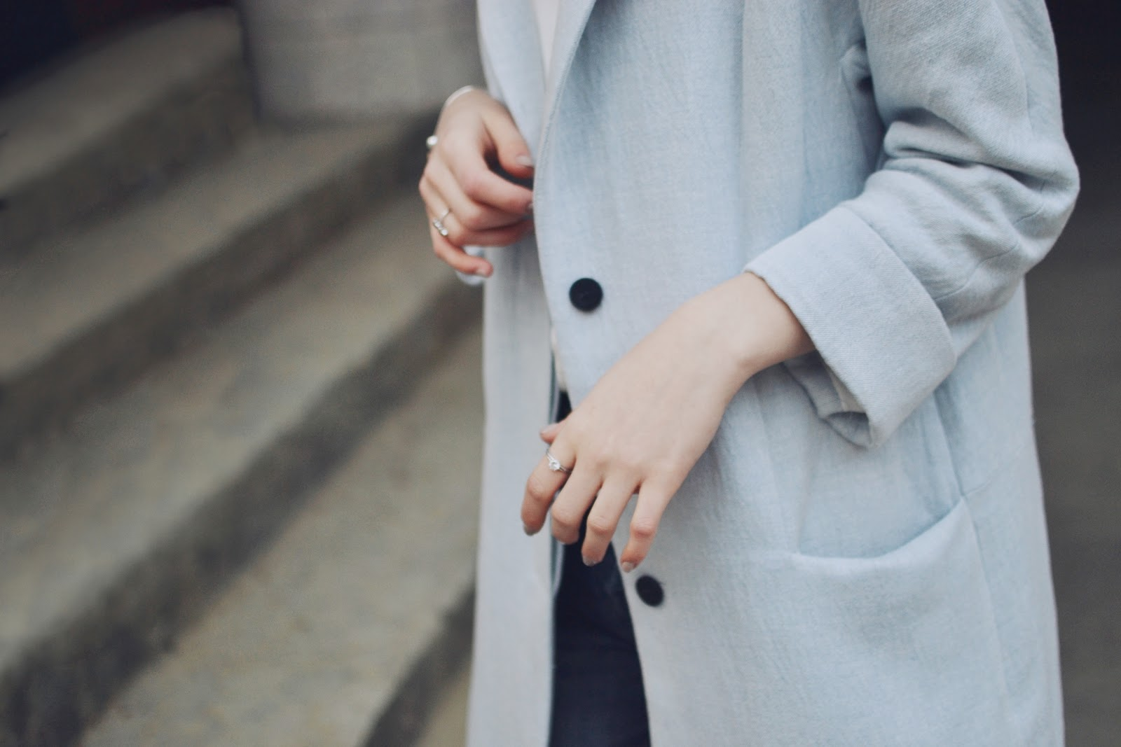 Zara blue coat SS15