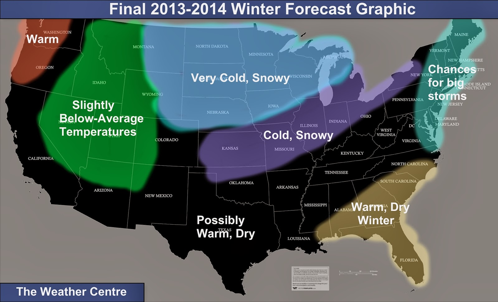 Winter Outlook 2013 2014 Map
