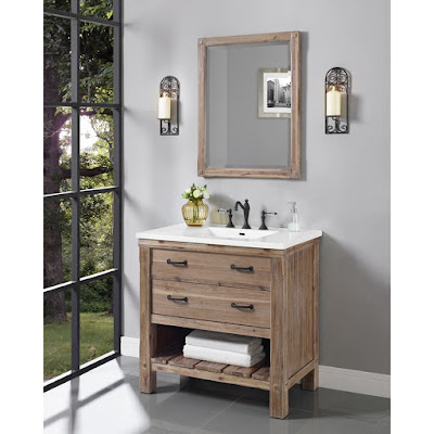 Rustic Style with Modern Finishes - Reclaimed Wood And Rustic Bathroom Vanities : Find.Like.Buy.
