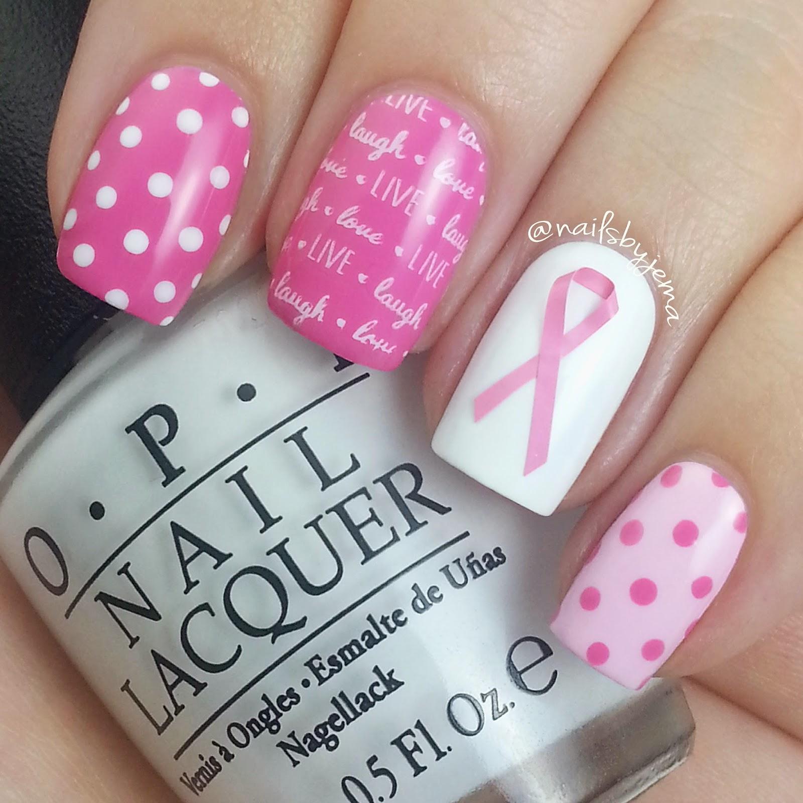 N A I L S B Y J E M A: Breast Cancer Awareness Month 2 New Nails ...