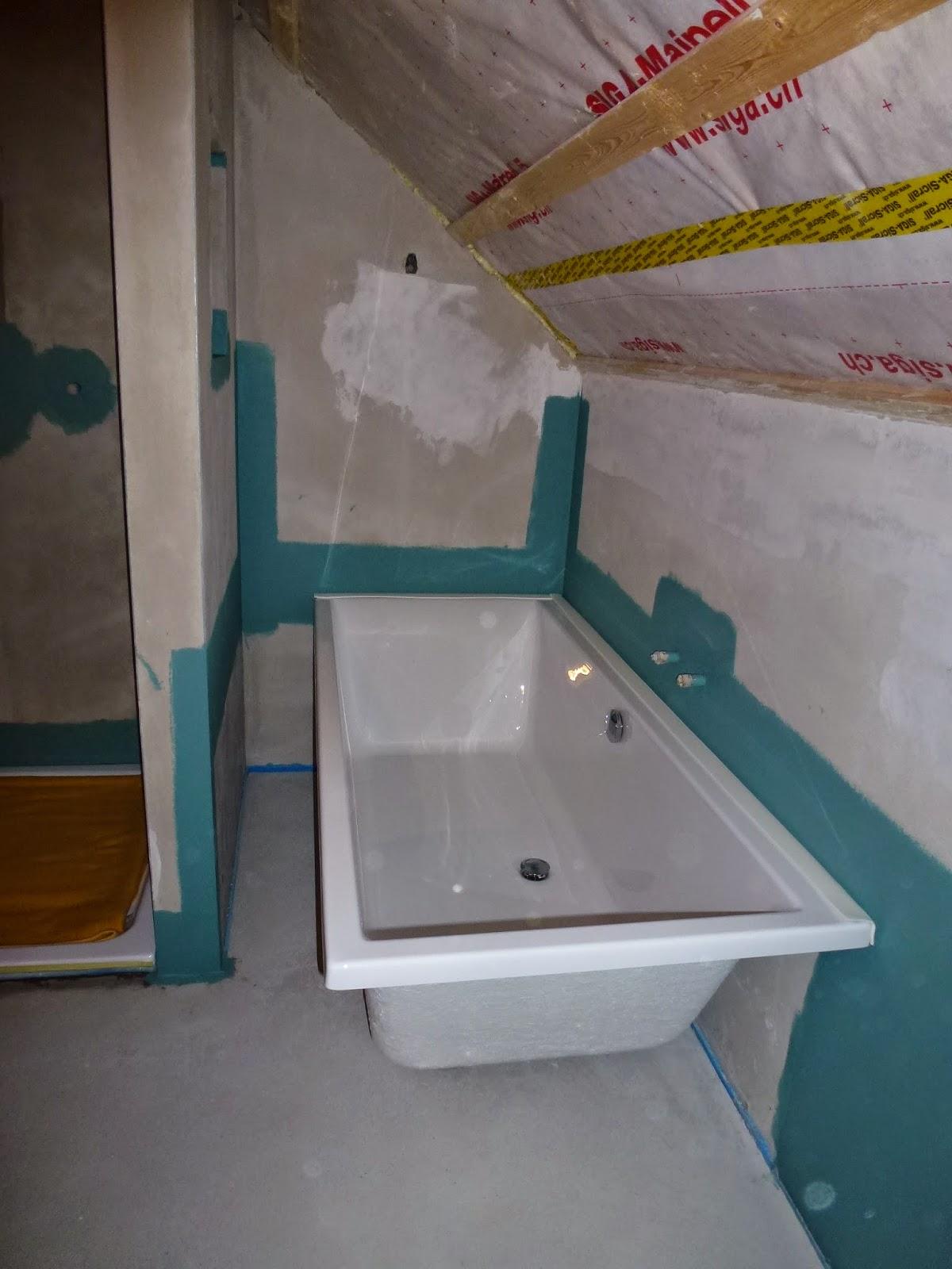 Unser luftschloss sp lkasten und badewanne - Dichtanstrich badezimmer ...