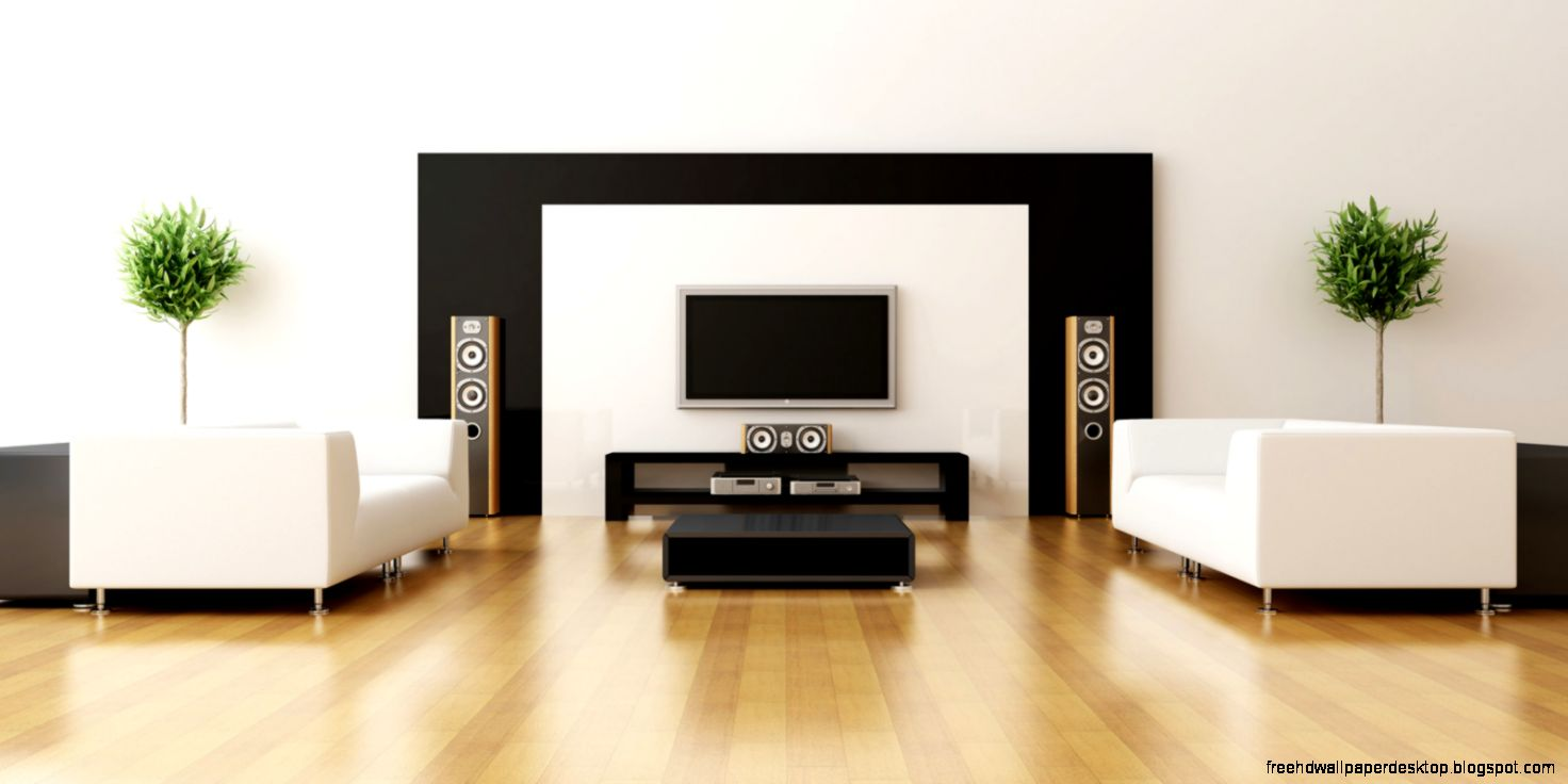 Minimalist interior room style design hd wallpaper free for Minimalist house interior
