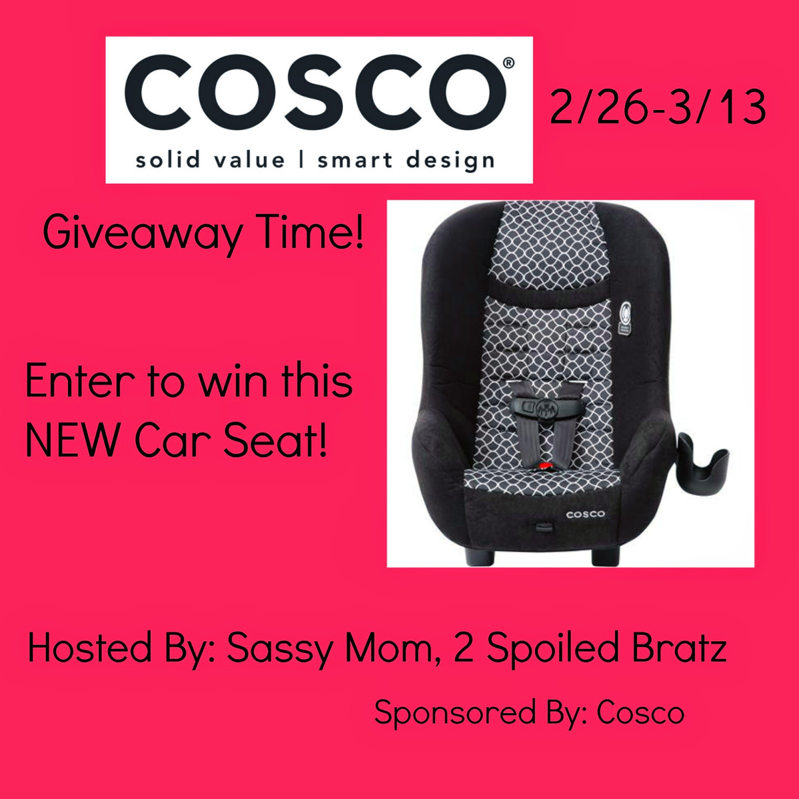 Cosco Car Seat Giveaway US Ends 3/13
