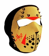 Glow in the Dark Spiked Jason Neoprene Face Mask