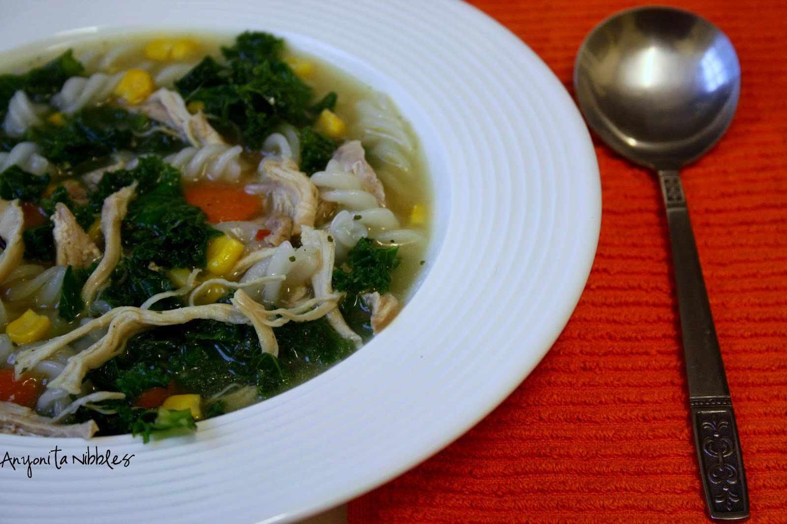 Gluten Free Jewish Penicillin with Kale | Anyonita Nibbles