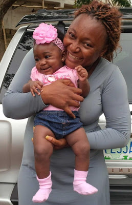mercy johnson baby girl photo