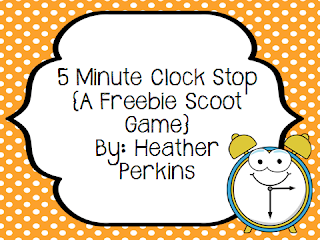 http://www.teacherspayteachers.com/Product/5-Minute-Clock-Stop-A-Freebie-Scoot-Game-995132