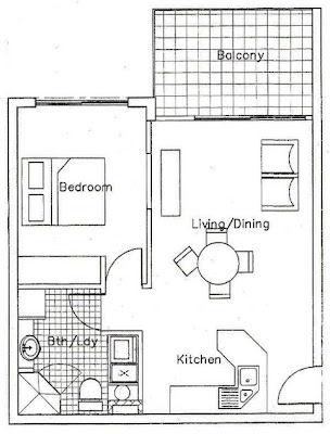 Small 2 Bedroom Apartment Floor Plan