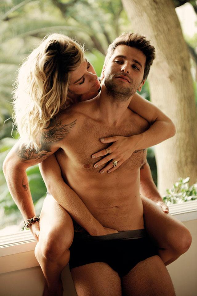 Bruno Gagliasso e Giovana Ewbank mostram intimidade em ensaio. Foto: Daniel Aratangy