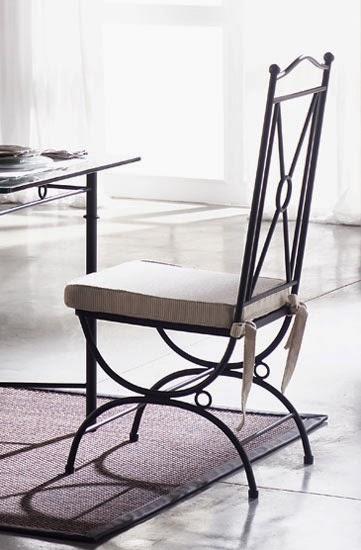 Muebles de forja nuevas sillas en forja y chapa de acero - Bancos de forja para exterior ...