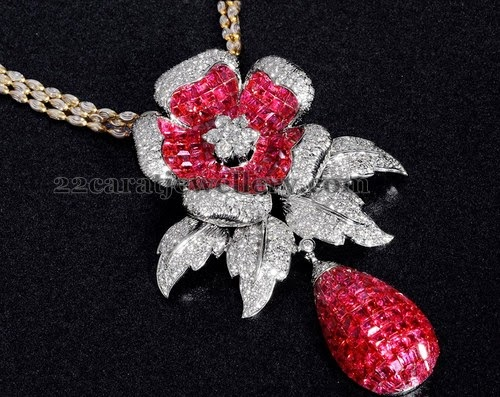 Rose Floral Regal Pendant