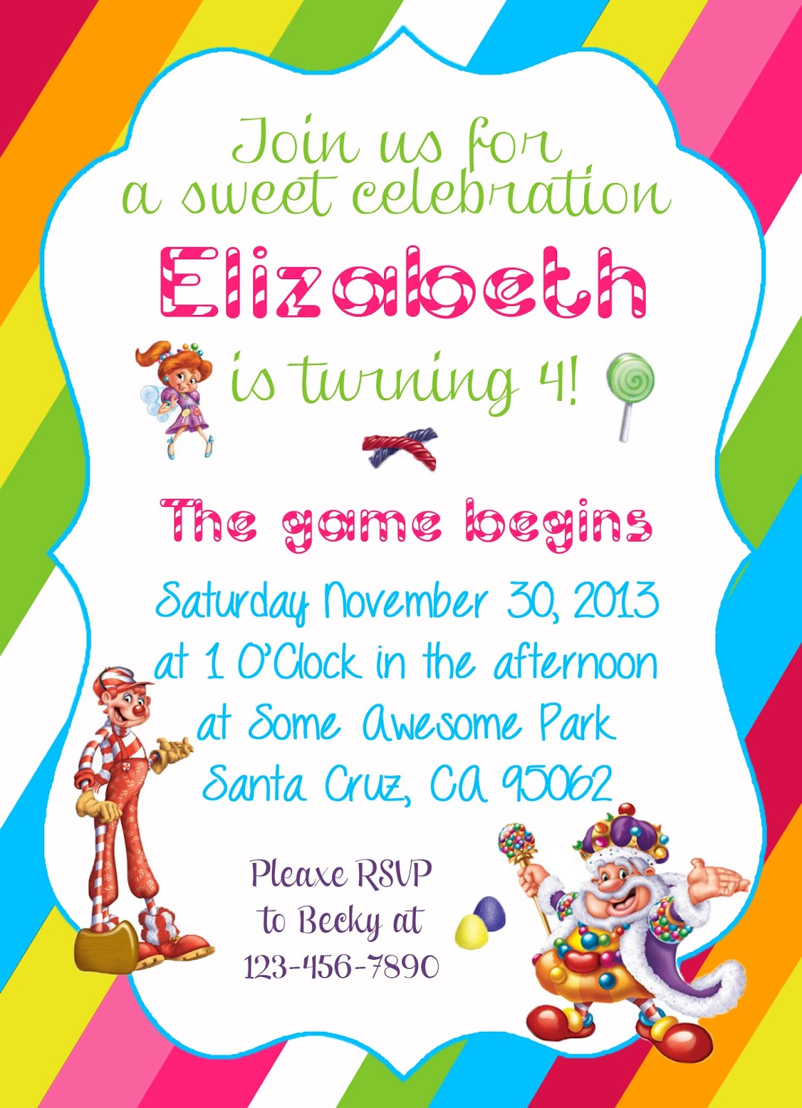 diy design den candyland themed party printable invitation candyland themed party printable invitation and diy banners