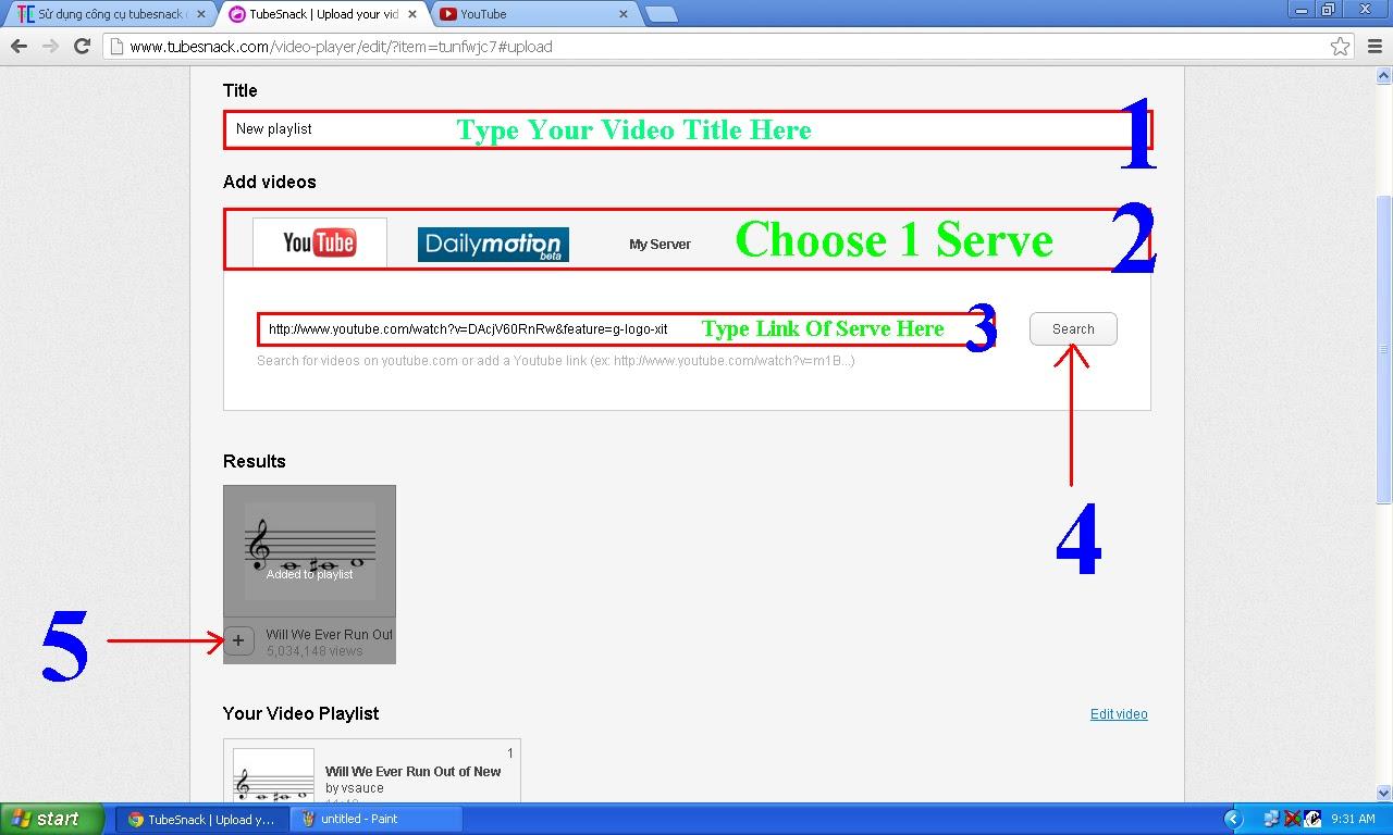 Sử dụng công cụ tubesnack để làm host riêng 2