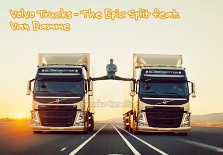Volvo FM Truck with Van Damme Epic Split