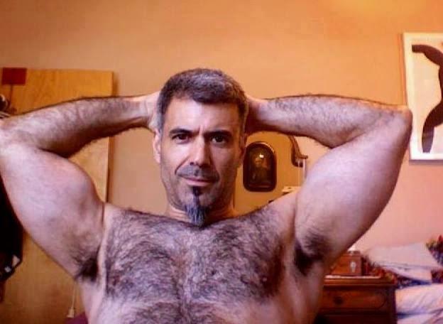 Mature Dad's Hairy Armpits