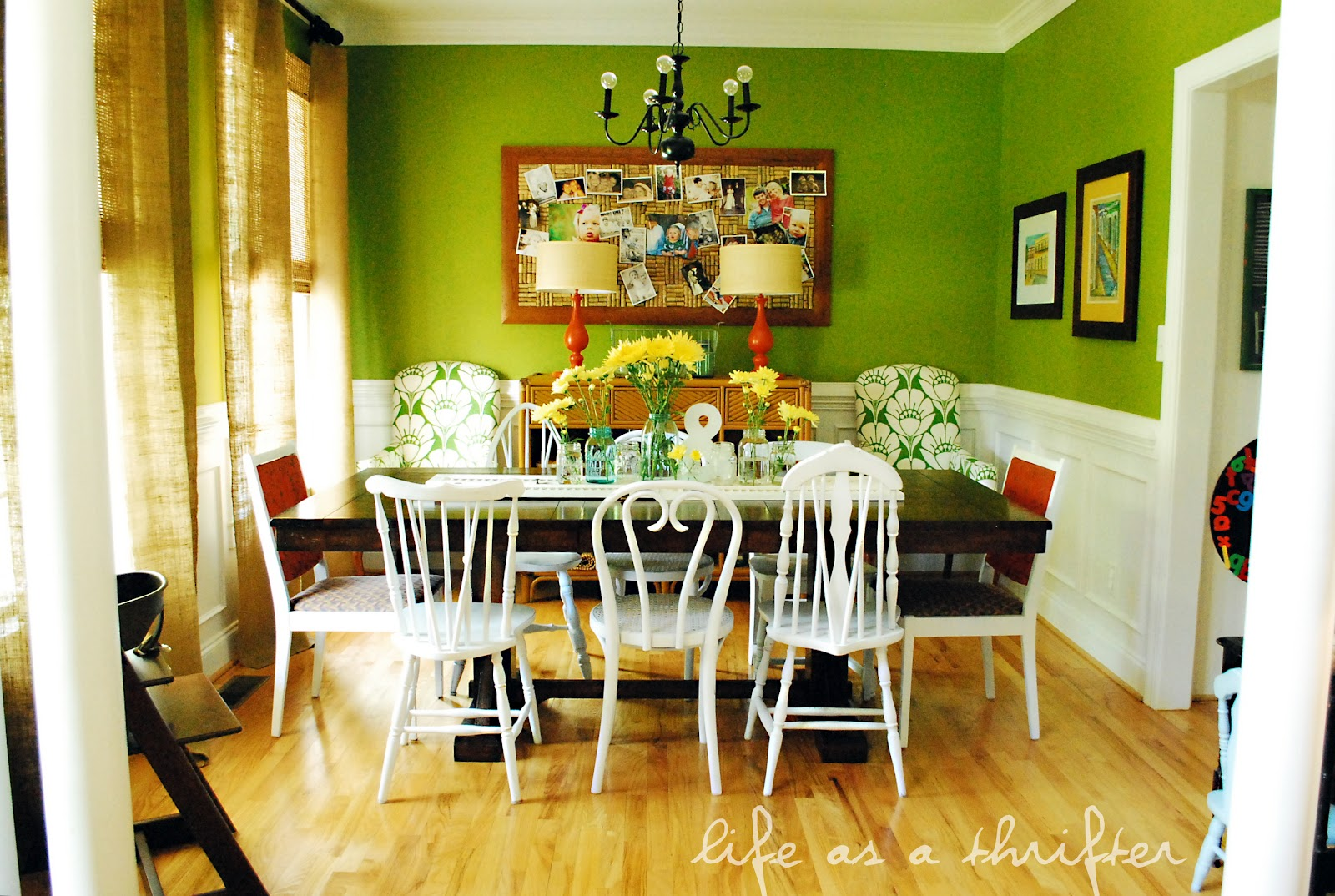 Life as a thrifter shutters on the table for Table salle a manger tendance