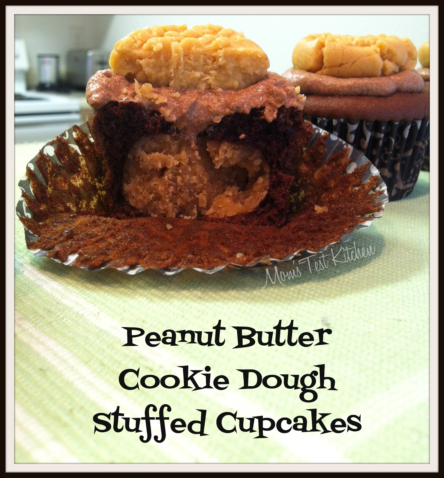 with Chocolate Buttercream Icing & Peanut Butter Cookie Frosting