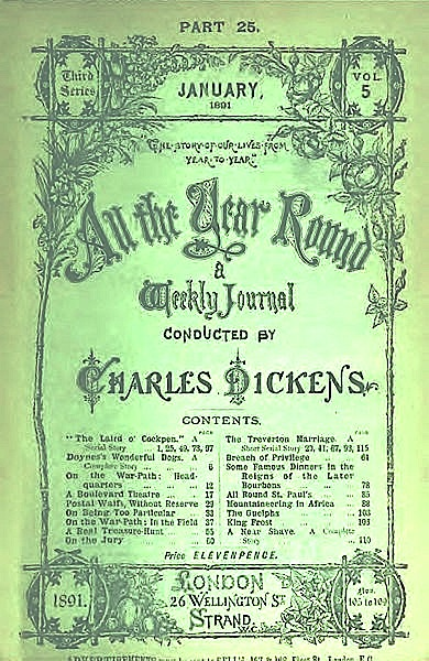 """All the Year Round"" conducted by Charles Dickents - January 1891"