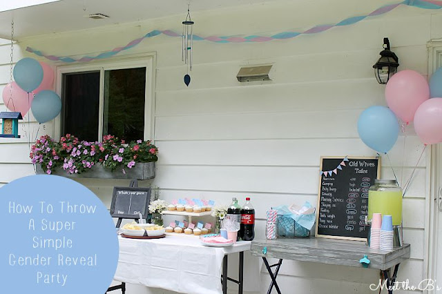 How to throw a super simple gender reveal party!