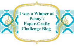 I won at Pennys paper-crafty challenge blog!