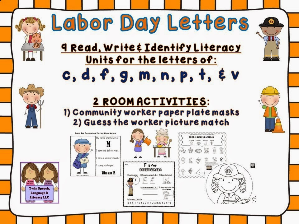 http://www.teacherspayteachers.com/Product/Labor-Day-Letters-Literacy-Crafts-Learn-About-Community-Workers-1341117
