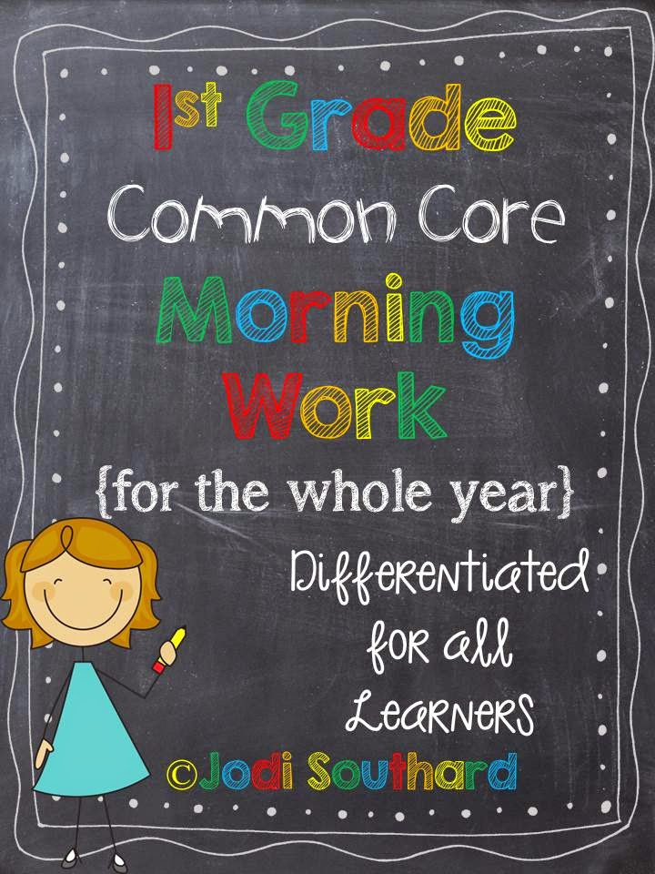 http://www.teacherspayteachers.com/Product/Common-Core-Differentiated-Morning-Work-for-the-ENTIRE-YEAR-of-1st-Grade-743727
