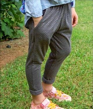 Tutorial pantalón slouchy o fluido para niña