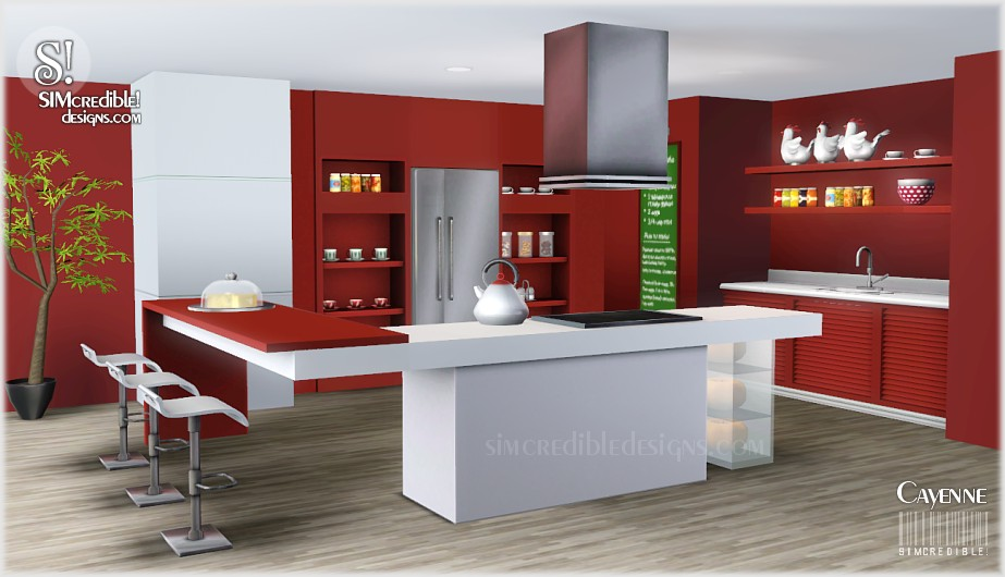 My sims 3 blog cayenne kitchen set by simcredible designs for Sims 3 kitchen designs