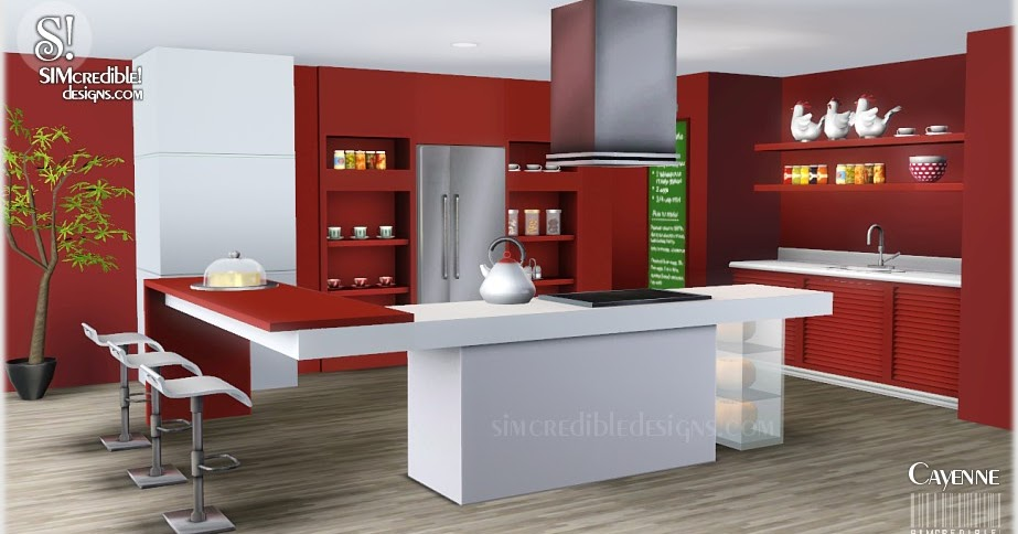 My sims 3 blog cayenne kitchen set by simcredible designs for My kitchen set