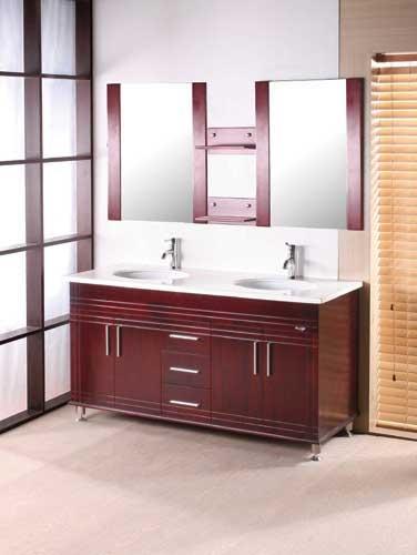 The ba os y muebles gabinetes de ba o de madera for Gabinetes de bano en madera