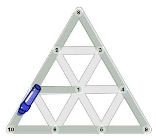Mostrando una solución de una figura determinada