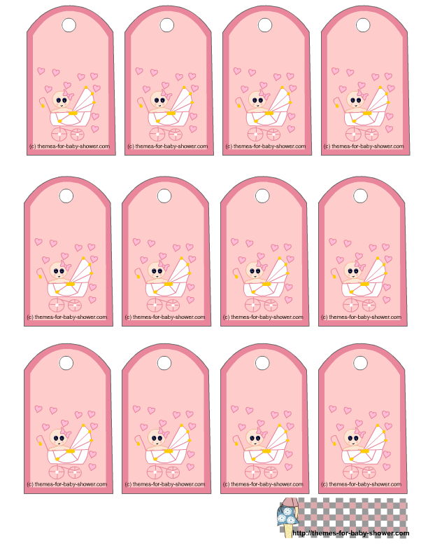 Dashing image throughout free printable baby shower gift tags