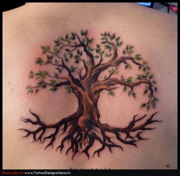Tree of life tattoo ideas long hairstyles