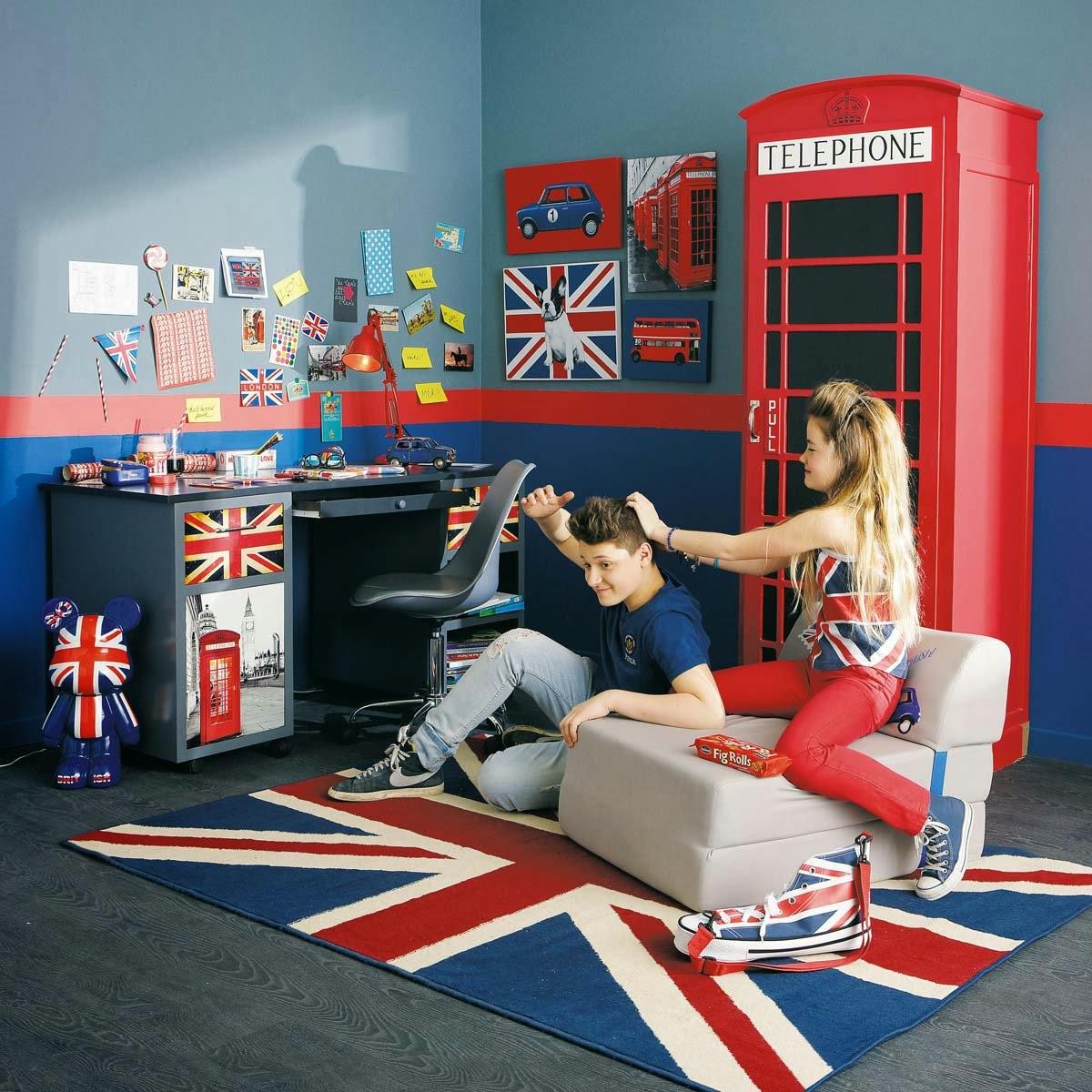 Idee Deco Salon Moderne Gris :  pour la maison  myIDclic Déco chambre dado  la chambre Londres