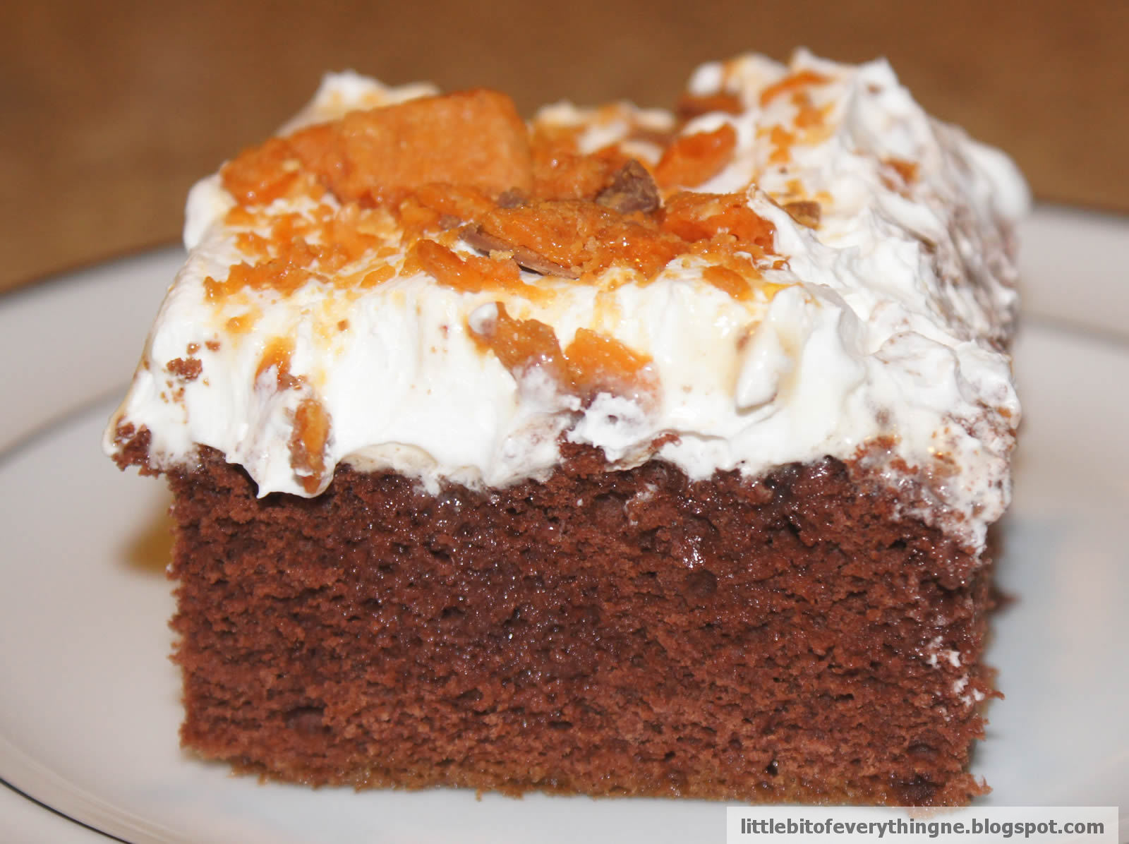 Chocolate Cake With Milk-Chocolate Crunch And Caramel Sauce Recipe ...