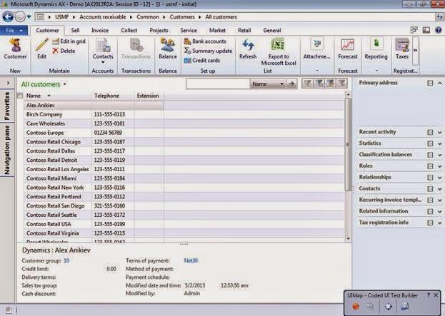 dynamics ax 2012 integration using aif  data import using visual studio test framework
