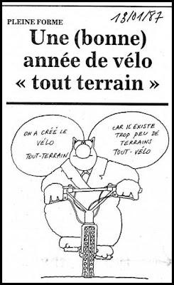 Vtt bernissart le chat d couvre le vtt en 1987 - Dessin cycliste humoristique ...