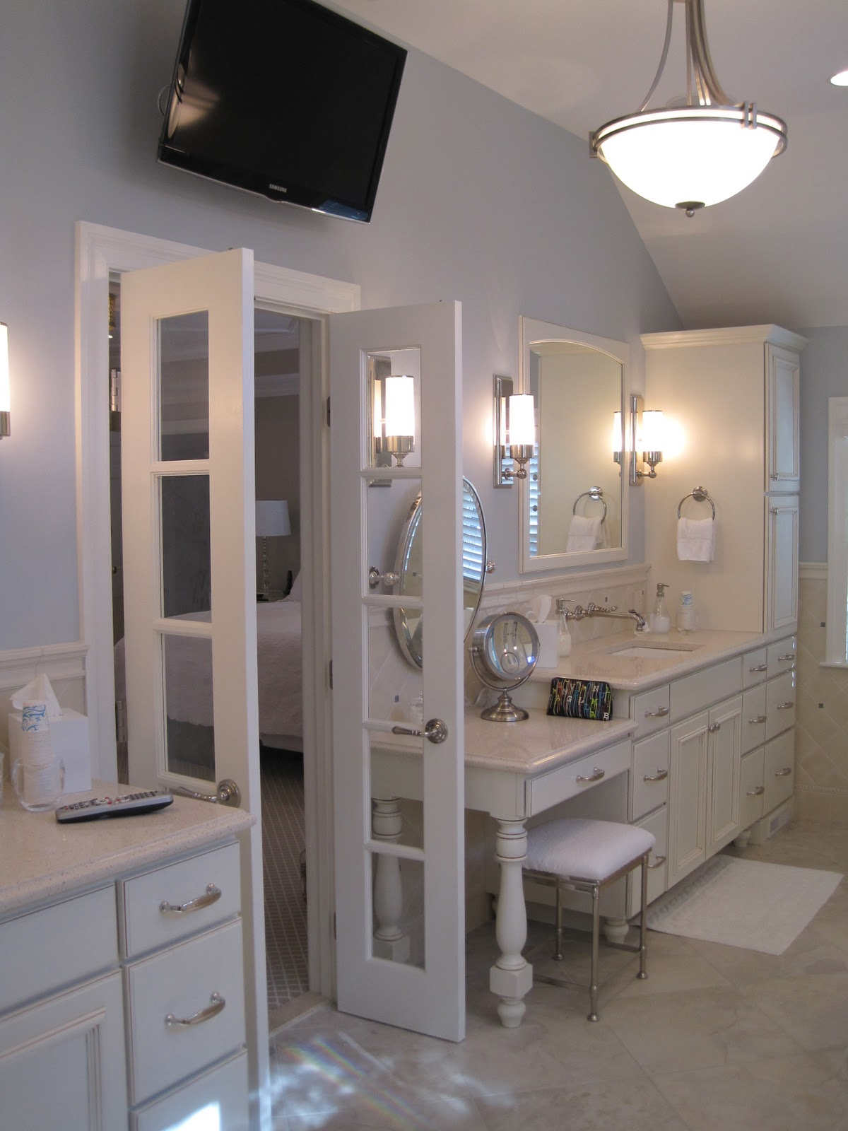 Alexi bebezas master suite bath addition over garage for Master suite bathroom
