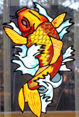 Chantal's Stained Glass Patterns ::: Koi Waterlily Arch