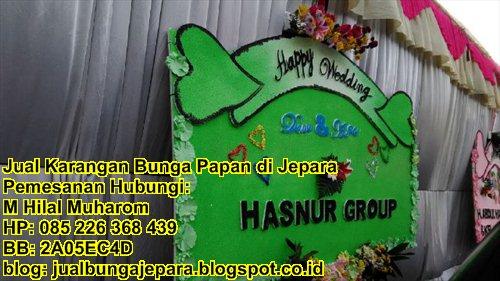 Harga Papan Bunga Happy Wedding 500.000