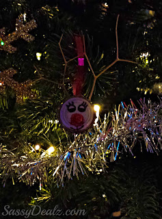 reindeer bottle cap ornament for kids