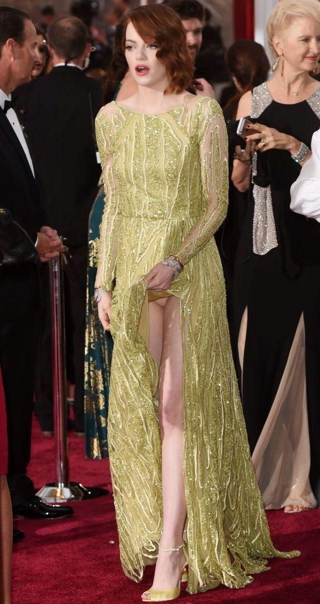 Emma Stone deja ver sus partes intimas en los premios Óscar