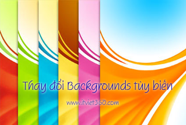 Thay đổi Backgrounds tùy biến trong mỗi Pages của Blogger