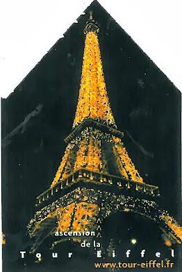 Εισιτήριο για τον πύργο του Eiffel :